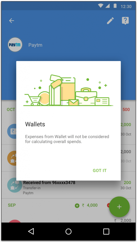 Spend is considered only when you recharge your wallet